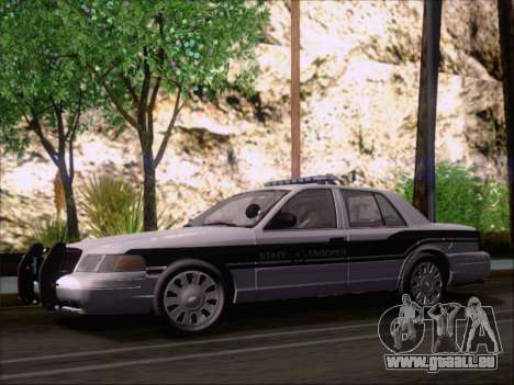 Ford Crown Victoria San Andreas State Trooper pour GTA San Andreas vue intérieure
