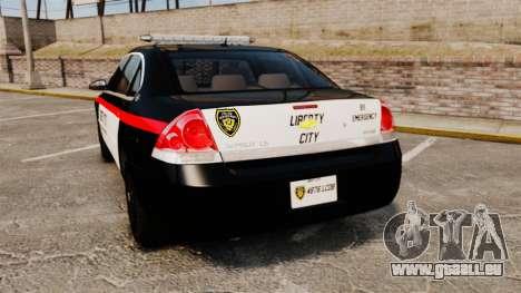 Chevrolet Impala 2008 LCPD STL-K Force [ELS] pour GTA 4 Vue arrière de la gauche