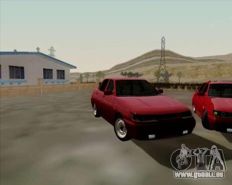 VAZ 2110 pour GTA San Andreas vue intérieure