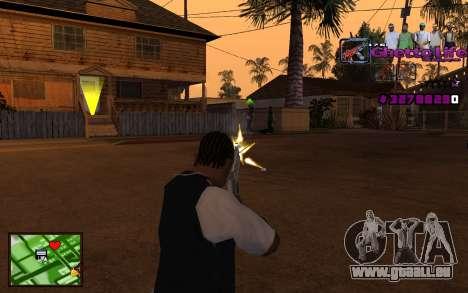 Avec HUD-Getto vie pour GTA San Andreas troisième écran