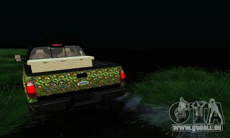 Ford F-250 Realtree Camo Lifted 2010 pour GTA San Andreas vue arrière