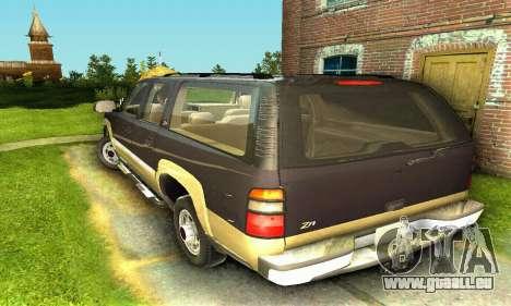 GMC Yukon XL 2003 pour GTA San Andreas sur la vue arrière gauche