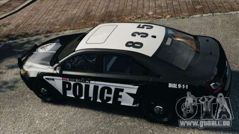 Ford Taurus Police Interceptor 2010 pour GTA 4 est un droit