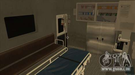 Ambulance HD from GTA 3 pour GTA San Andreas vue intérieure