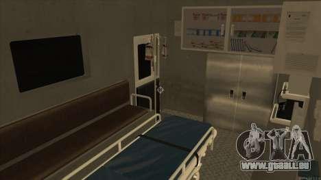 Ambulance HD from GTA 3 pour GTA San Andreas vue intérieure
