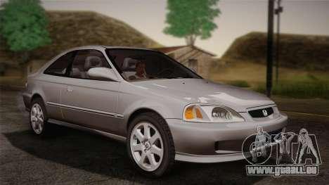 Honda Civic Si 1999 Coupe pour GTA San Andreas sur la vue arrière gauche