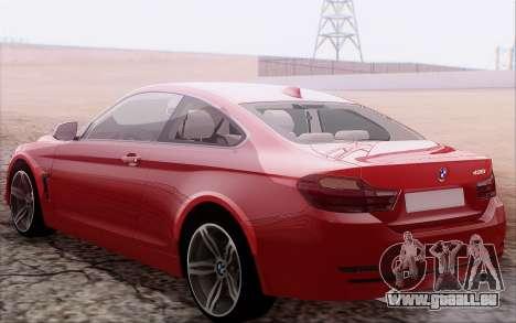 BMW 435i pour GTA San Andreas vue de droite