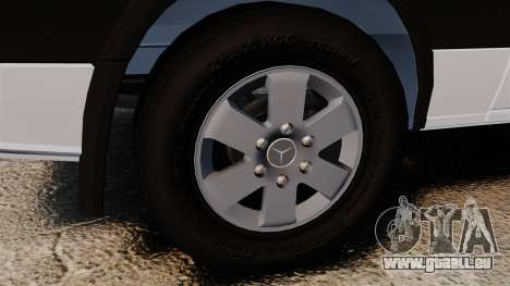 Mercedes-Benz Sprinter 2500 2011 v1.4 pour GTA 4 est une vue de l'intérieur