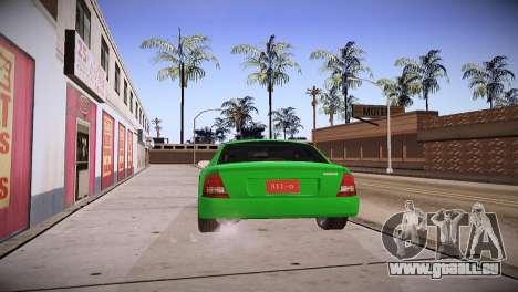 Mazda Protege pour GTA San Andreas laissé vue