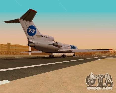Yak-42 d UTair pour GTA San Andreas laissé vue
