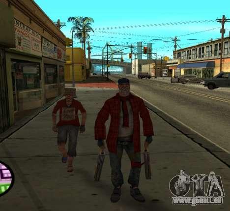 Clochards pour GTA San Andreas deuxième écran