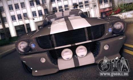 Shelby GT500 E v2.0 pour GTA San Andreas sur la vue arrière gauche