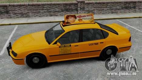 Véritable publicité sur les taxis et les bus pour GTA 4 huitième écran
