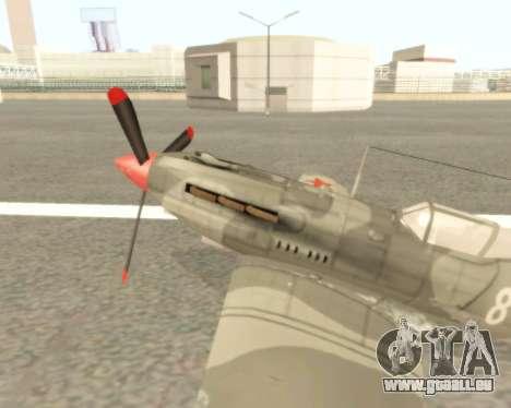 MIG-3 pour GTA San Andreas laissé vue