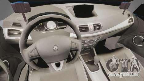 Renault Megane RS Gendarmerie Nationale [ELS] für GTA 4 Rückansicht