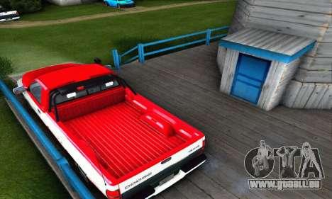 Dodge Ram 2500 pour GTA San Andreas sur la vue arrière gauche