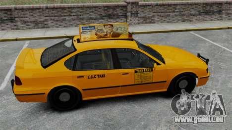 Véritable publicité sur les taxis et les bus pour GTA 4 septième écran