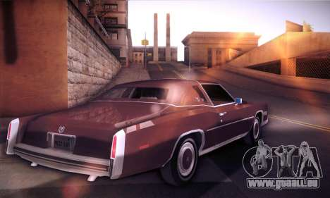 Cadillac Eldorado 1978 Coupe für GTA San Andreas zurück linke Ansicht