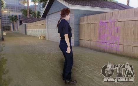 GTA 5 Police Woman pour GTA San Andreas troisième écran
