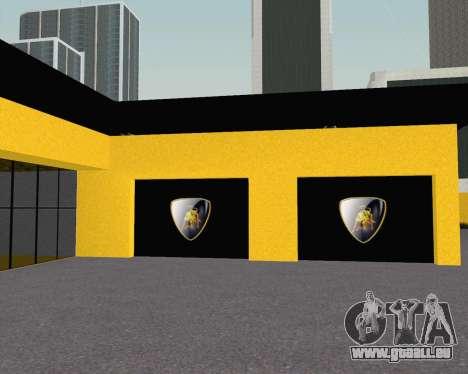 Lamborghini Dealer San Fierro pour GTA San Andreas quatrième écran
