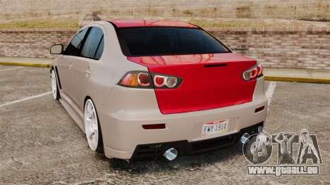 Mitsubishi Lancer Evolution X GSR 2008 für GTA 4 hinten links Ansicht