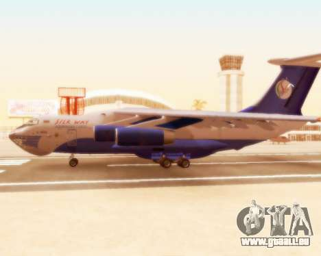 Il-76td Silk Way für GTA San Andreas zurück linke Ansicht