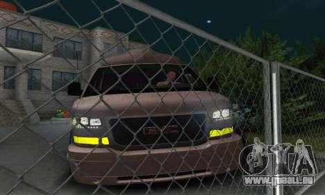 GMC Savana für GTA San Andreas Unteransicht
