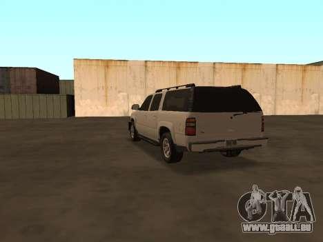 Chevrolet Suburban ATTF pour GTA San Andreas sur la vue arrière gauche