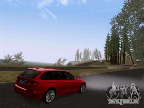 BMW 3 Touring F31 2013 pour GTA San Andreas sur la vue arrière gauche