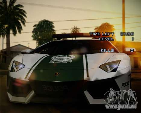 Lamborghini Aventador LP700-4 2012 RCPD V1.0 für GTA San Andreas Innen