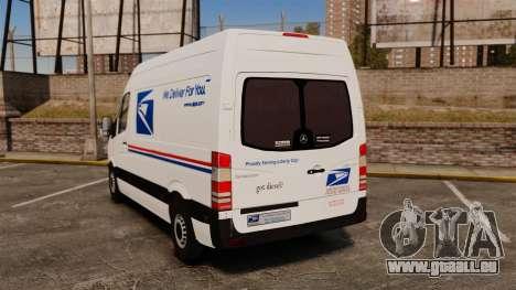 Mercedes-Benz Sprinter US Mail pour GTA 4 Vue arrière de la gauche