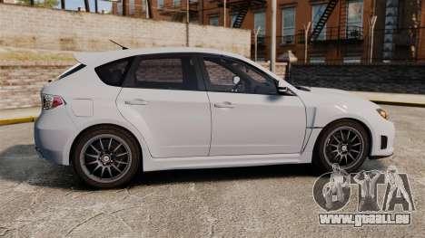 Subaru Impreza Cosworth STI CS400 2010 pour GTA 4 est une gauche