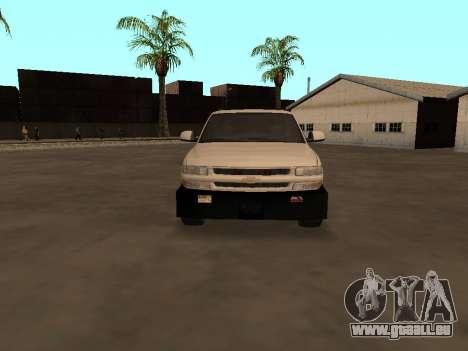 Chevrolet Suburban ATTF pour GTA San Andreas vue intérieure