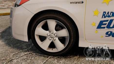 Toyota Prius 2011 Warsaw Taxi v2 pour GTA 4 Vue arrière