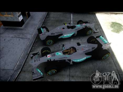 Mercedes F1 W04 pour GTA 4 Vue arrière de la gauche