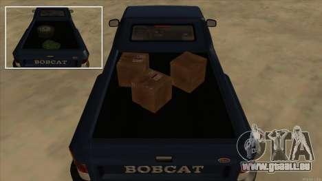 Bobcat HD from GTA 3 für GTA San Andreas Rückansicht