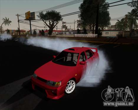 VAZ 2110 pour GTA San Andreas vue de dessous