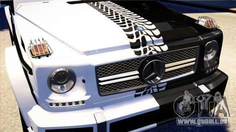 Mercedes-Benz G65 AMG 2013 pour GTA 4 est une vue de l'intérieur