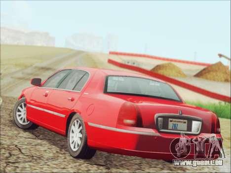 Lincoln Town Car 2010 für GTA San Andreas zurück linke Ansicht