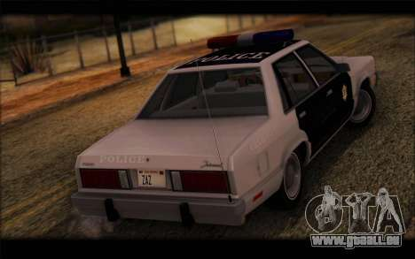 Ford Fairmont 1978 4dr Police für GTA San Andreas linke Ansicht