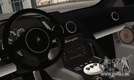 Lamborghini Murciélago Police 2005 pour GTA San Andreas vue de dessous