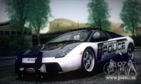 Lamborghini Murciélago Police 2005 pour GTA San Andreas
