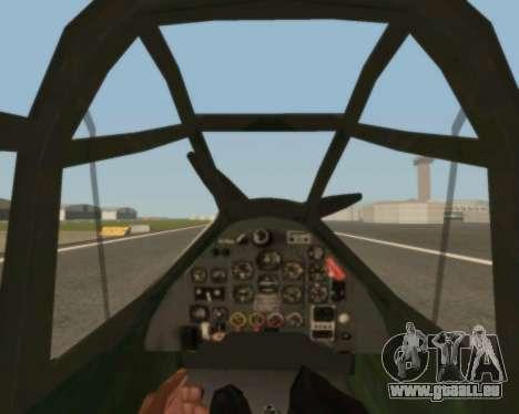 Junkers Ju-87 Stuka pour GTA San Andreas vue intérieure