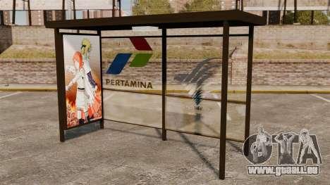 Arrêts de bus Naruto pour GTA 4 troisième écran