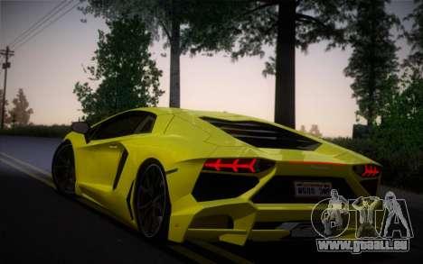 Lamborghini Aventador LP720-4 50th Anniversario pour GTA San Andreas laissé vue