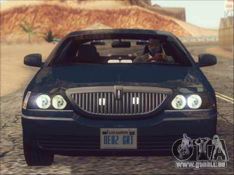 Lincoln Town Car 2010 für GTA San Andreas Seitenansicht