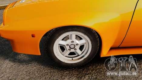 Opel Manta pour GTA 4 Vue arrière