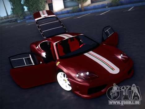 Ferrari 360 Challenge Stradale pour GTA San Andreas vue de dessus