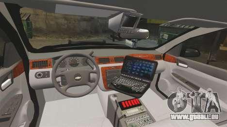 Chevrolet Impala 2008 LCPD STL-K Force [ELS] für GTA 4 Rückansicht