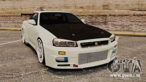 Nissan Skyline GT-R V-Spec II Mk.X [R34] pour GTA 4